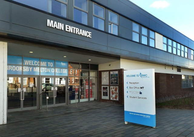 The Melton Theatre entrance at Brooksby Melton College EMN-200807-125708001