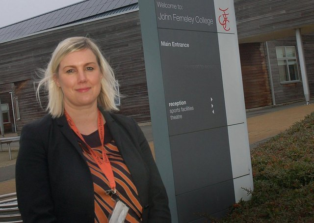 Lara Hall, who is leaving her post as head of school at John Ferneley College, Melton EMN-201007-161212001
