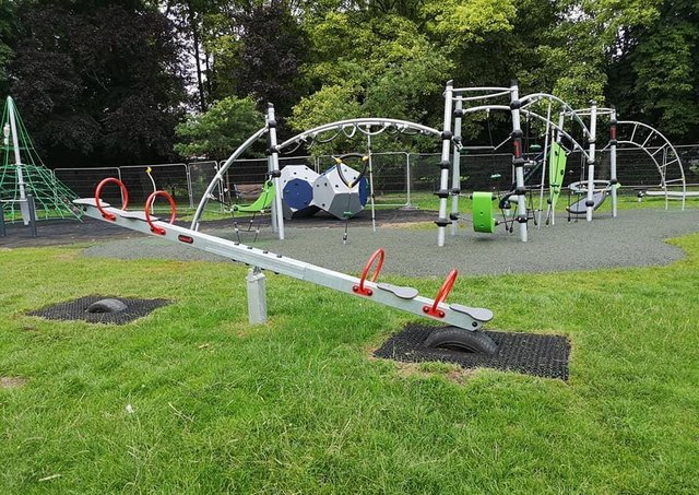Some of the equipment in Melton's new £100,000 destination play park in the town's Play Close EMN-200713-183334001