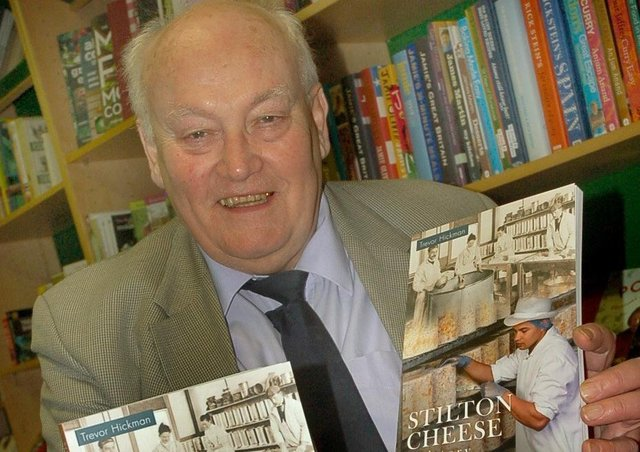 Trevor Hickman signs copies of his history of Stilton Cheese book back in 2012 at Melton Bookshop PHOTO: Tim Williams EMN-200727-180448001