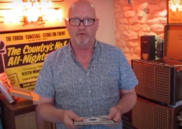 Melton vinyl dealer John Manship with a rare copy of the Frank Wilson disc, Do I Love You EMN-200308-100923001