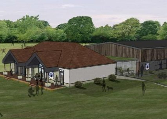 An artist's impression of Belvoir Cricket and Countryside Trust's proposed new pavilion and indoor cricket school at Knipton EMN-210102-121104001
