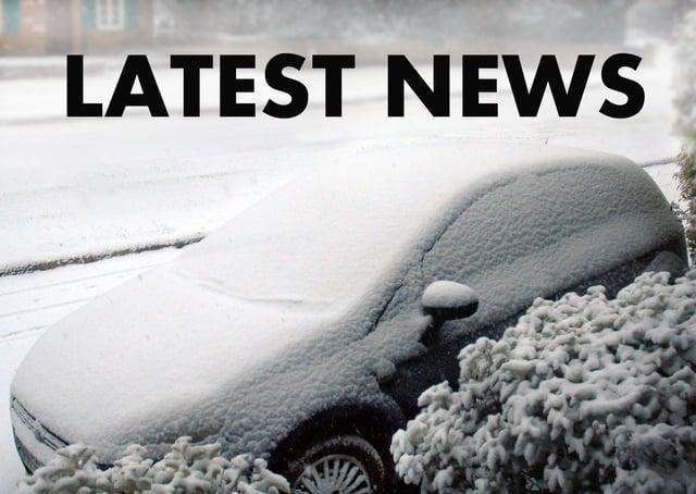 Snow has been falling across the Melton borough EMN-210802-151028001