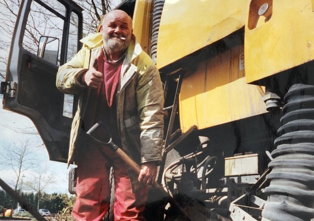 The late Pip Ewart on a job with his industrial cleaning company in Melton EMN-211202-172737001