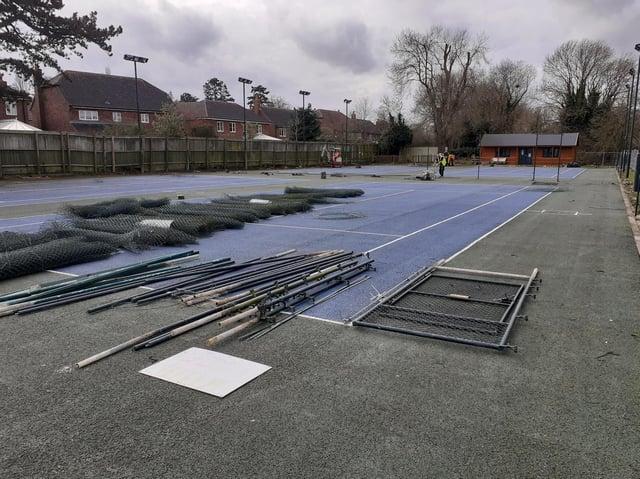 The hard work continues at Melton Mowbray Tennis Club.