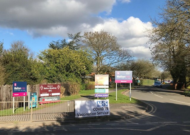 The turning for the Melton Covid vaccination centre at Melton Sports Village on Burton Road EMN-210203-171228001