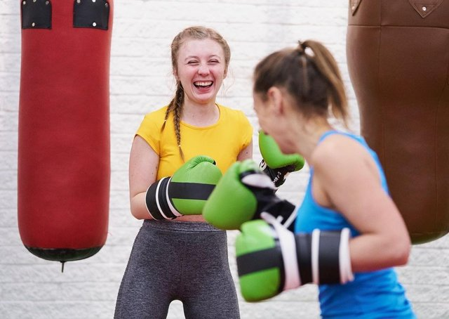 Girls taking part in exercise sessions organised as part of the This Girl Can campaign EMN-210903-114721001