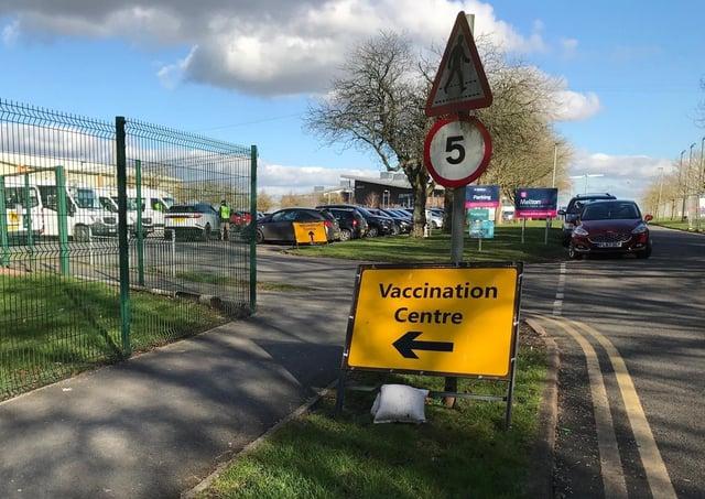 The Melton Covid vaccination centre at Melton Sports Village EMN-210316-181619001