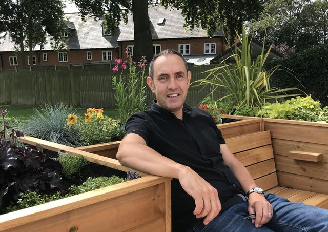 Jason Young, who has passed away aged 49, at the Friendly Bench in Bottesford EMN-210317-142941001