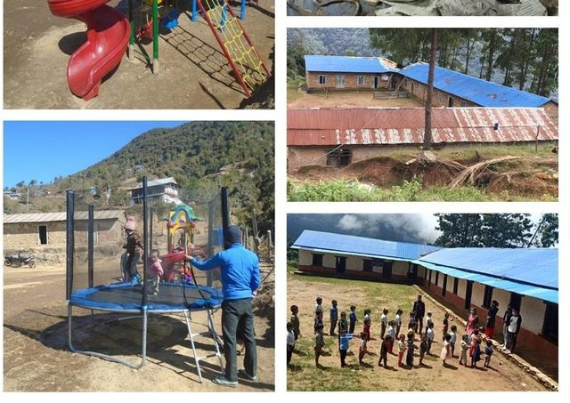 Shree Panchakanya School in Pokhari, a remote village in Nepal, which is being revived thanks to a campaign involving members of Melton Belvoir Rotary Club and The Gurkha Welfare Trust EMN-210319-174252001