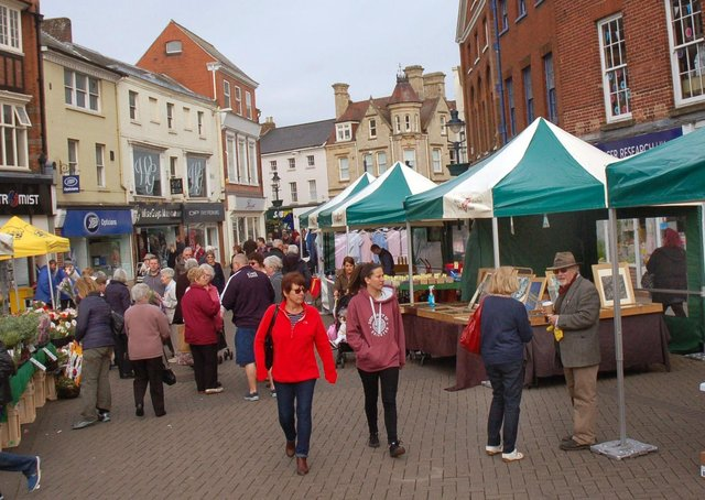 Melton's new market stalls in place for the Easter Saturday launch event EMN-210704-131243001