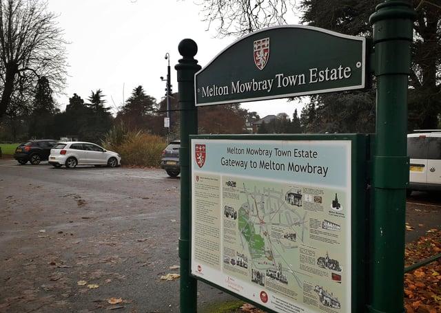 Melton Town Estate car park for the town centre parks EMN-210704-104710001