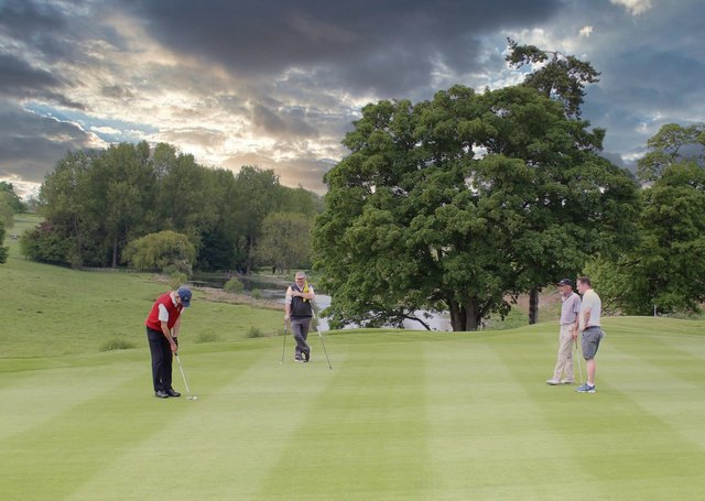 Stoke Rochford hopes lockdown restrictions will be further eased to allow three and fourballs on course in June. This photograph was taken prior to social distancing measures.