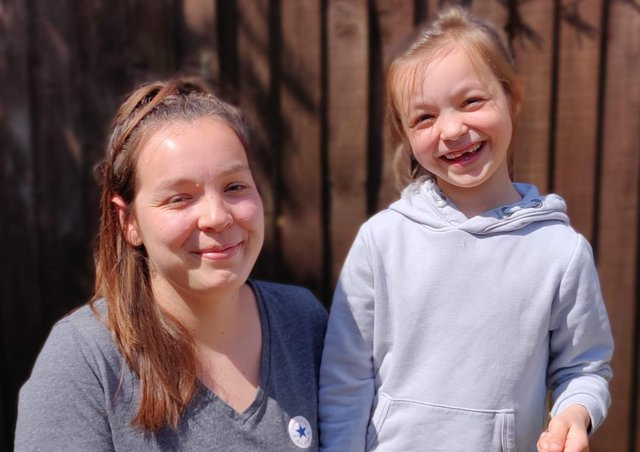 Melton schoolgirl Tia Acey (7) with mum, Charlotte - they are competing against each other as part of a fundraising initiative for a cancer charity EMN-200106-104717001