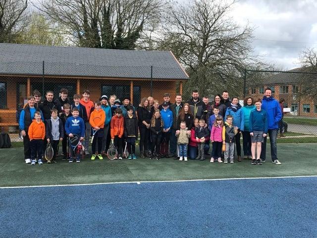 Family tennis members at Melton Mowbray Tennis Club.