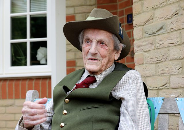Colonel John Waddy, celebrated his 100th birthday this weekPhoto Richard Watt 07836 515306 EMN-200617-135133001
