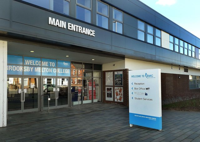 The entrance to Melton Theatre at the Brooksby Melton College site EMN-210804-163657001