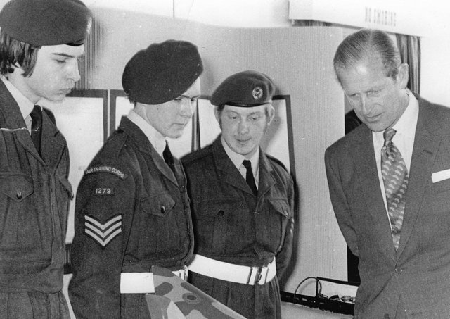 Members of the Melton ATC squadron pictured in 1973 during a Royal visit by the Duke of Edinburgh EMN-210904-170829001