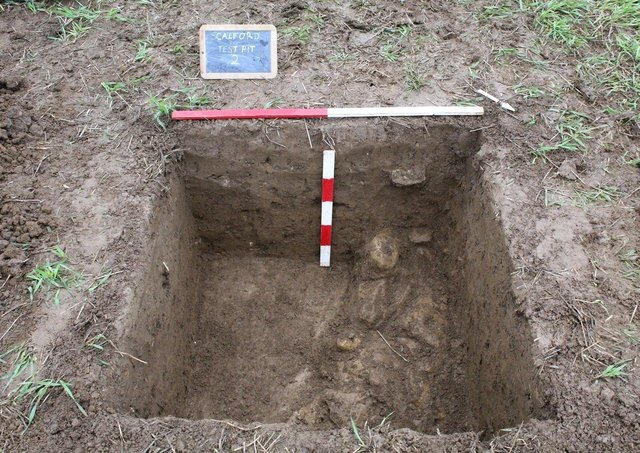 The wall of the Roman villa unearthed between Scalford and Goadby Marwood EMN-210505-144904001