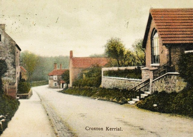 Main Street in Croxton Kerrial pictured around 1910 EMN-211005-121825001
