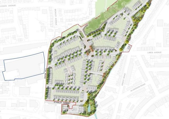 The planned layout for 313 new homes on the site of the JELD-WEN factory site, off Snow Hill in Melton EMN-210525-155501001