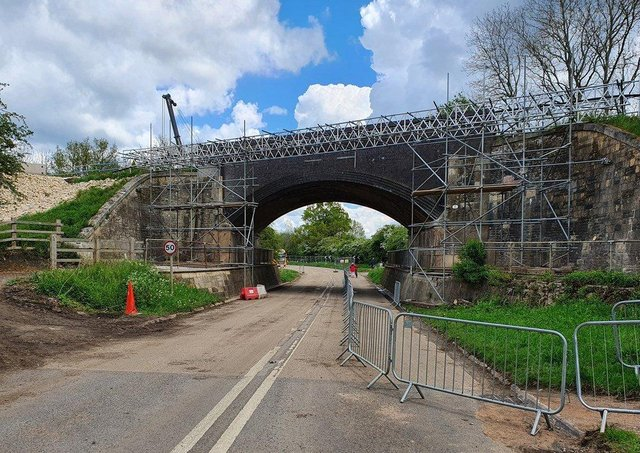 Preliminary work is being carried out on a 150-year-old railway bridge at Manton before it is replaced with a new structure to safely carry trains between Melton and Stamford EMN-210527-155759001