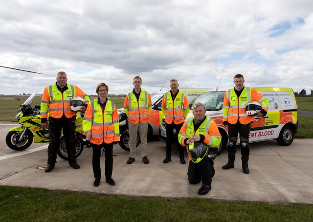 Members of the Leicestershire and Rutland Blood Bikes, which this month has received The Queen's Award for Voluntary Service EMN-210406-151544001