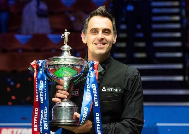 Snooker star Ronnie O'Sullivan EMN-210506-124420001