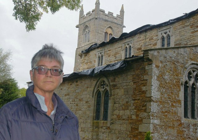 Treasurer Julia Hawley at Wyfordby Church, which will be open during Sunday's fundraising garage sale in the village and at Brentingby EMN-211006-103043001