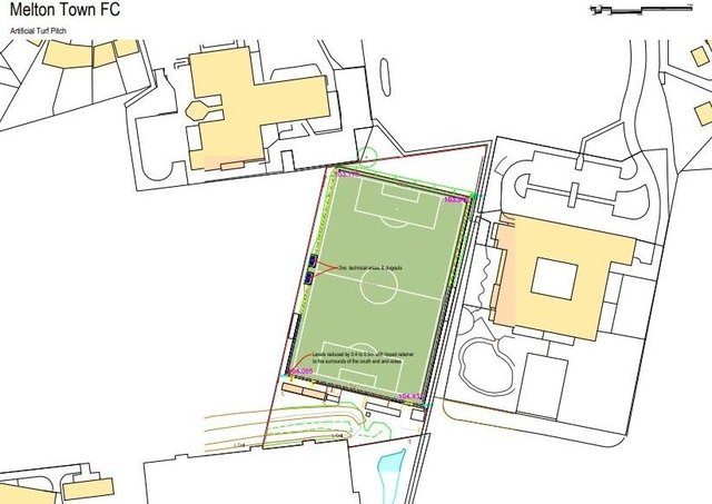 The site for the proposed 3G pitch at Melton Town FC's HQ at Melton Sports Village EMN-210621-120232001