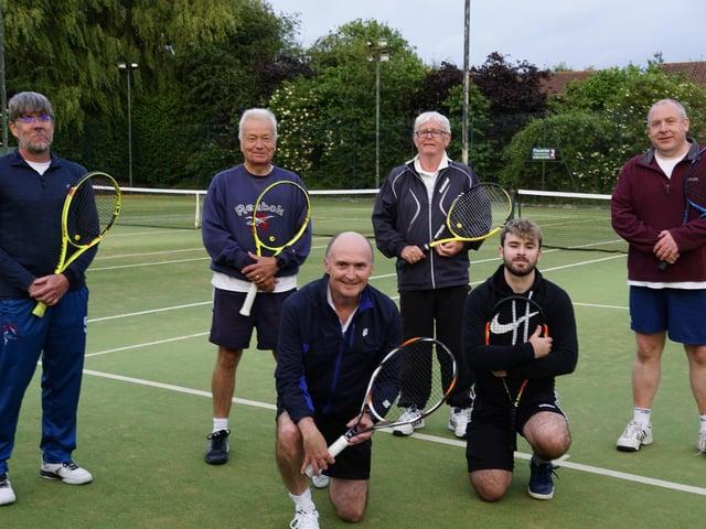 Hamilton Men's Second team of Ian Scotland, Jon Dyson, Joe Cunningham and Richard Evans; front, Ed Shufflebotham and Dan Belcher