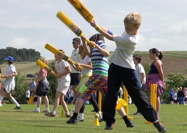 Youngsters enjoy a session run by the Belvoir Cricket and Countryside Trust at Knipton - the scheme is being run again in August EMN-210807-172614001