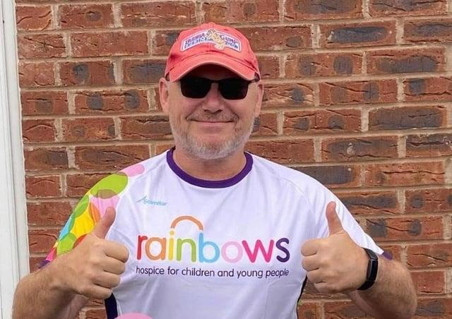 Paul Heath, who is raising money for Rainbows Hospice with a 12-hour walk around Rutland Water EMN-210907-111546001