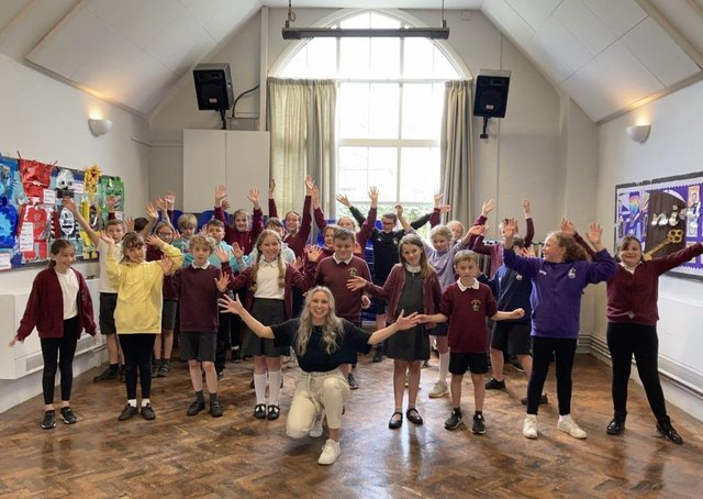 Pupils at Croxton Kerrial Primary School pictured during their summer performance, which parents could only watch online due to Covid restrictions EMN-211207-103631001