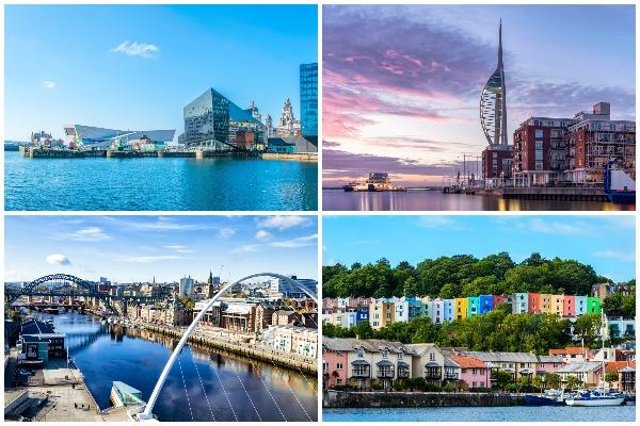 Popular places to live in the UK